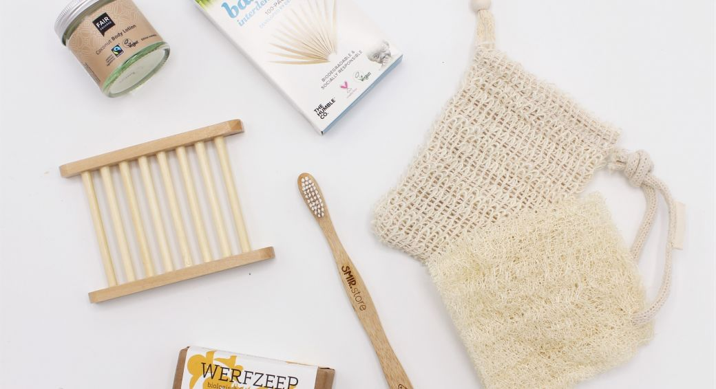 Zero waste items uit het Quarantainepakket van SMIR shop